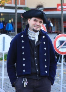 Stadtratskandidat Peter Keel am Lindenplatz